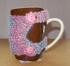 OOAK Mug cozie by SpinHeartSpin on Etsy, $15.00