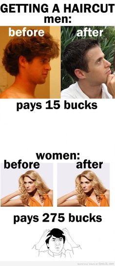 The difference between men and women haircuts