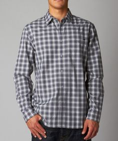 This Gray Plaid Toby Button-Up - Men is perfect! #zulilyfinds