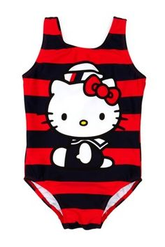 Who can resist Hello Kitty? #kids #bathing #swim #suits