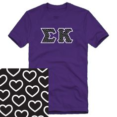 Sigma Kappa Purple Mascot Pattern Greek Letters Tee