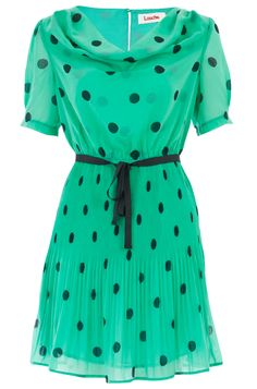 LOUCHE DELFINA SPOT PLEAT DRESS