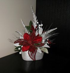 Red & White with Feathers. My own creation.