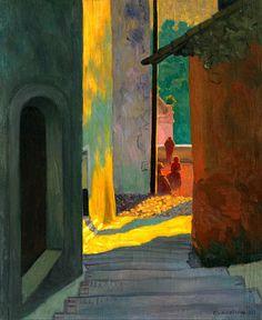 Vieille Rue De Cagnes, Soleil Couchant, Félix Vallotton, 1920