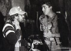 Raiders of the Lost Ark - Behind the scenes photo of Steven Spielberg & Alfred Molina
