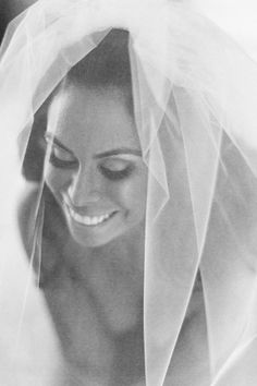 A little bit classic, a little bit puffy, this veil works with so many styles.   - HarpersBAZAAR.com
