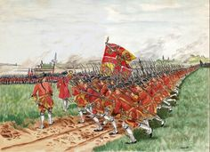 The charge of the Regiment of Clare, Irish Brigade in the service of France, against the British Guards at the Battle of Fontenoy, 11 May by Thomas Payton. Military Art, Military History, The Wild Geese, Frederick The Great, Irish Warrior, Seven Years' War, Age Of Empires, French Army, Napoleonic Wars