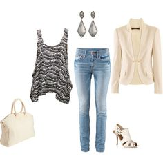Casually Chic.,. But I'd trade out for dark jeans