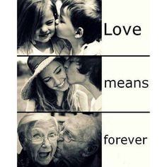 Love means forever