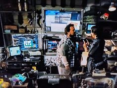 "Frederick ""Warlock"" Kaludis' basement laboratory in Live Free or Die Hard. Live Free Or Die, Home Learning, Die Hard, Times Square, Basement, Studio, Design, Root Cellar"