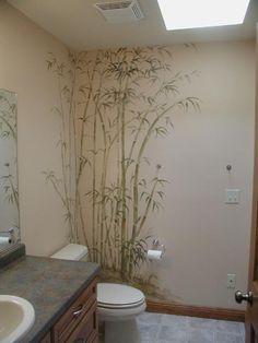 Murals - Bamboo Bathroom