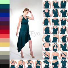 ANGLED infinity wrap dress Free-Style Dress convertible