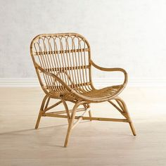 A beach vibe meets minimalist silhouette in our honey-hued Cillian Chair. Hand-woven of rattan with a roomy seat and mid-century mod curves its equally at home in living rooms bedrooms and sunrooms. Design Living Room, Family Room Design, My Living Room, Living Room Chairs, Living Room Furniture, Living Room Decor, Small Living, Plywood Furniture, Rattan Furniture