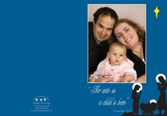 For Unto Us a Child is Born holiday card