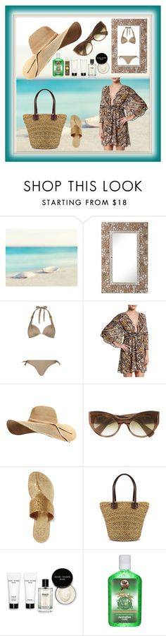 """My Fav Sun Cover-up Protection"" by mcronald-denise ❤ liked on Polyvore featuring Universal Lighting and Decor, ELIZABETH HURLEY beach, Gottex, Versace, Tory Burch, Bobbi Brown Cosmetics, Australian Gold, Sun Bum and coverups"