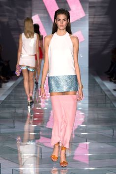 Versace Spring 2015. See all the best looks from Milan Fashion Week here.