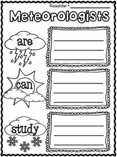 "Freebie in the Preview!!!  WEATHER ""RESEARCH"" WRITING UNIT~ FOR K-2ND GRADES :O)"