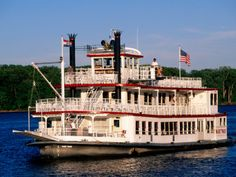 A Riverboat on the Missouri River - Hannibal, MO