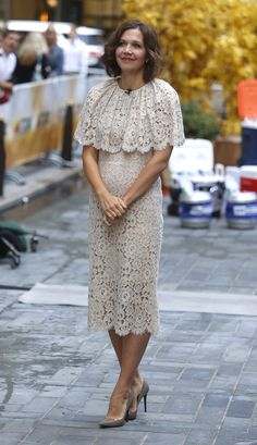 Maggie Gyllenhaal wearing #dolcegabbana while appearing on 'The Today Show' in New York on Sept 21st