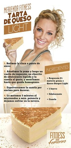 Receta Tarta de Queso Light - Merienda Fitness en Femenino - Tap the pin if you love super heroes too! Cause guess what? you will LOVE these super hero fitness shirts! Healthy Desserts, Healthy Cooking, Healthy Life, Cooking Recipes, Healthy Recipes, Healthy Food, Tortas Light, Cooking Light, Light Recipes