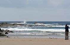 Taking pictures of the waves in Saligo Bay, Isle of Islay