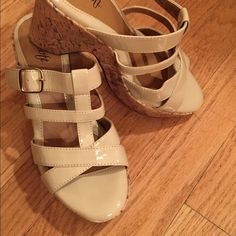 euro by Soft Nude color sandals Never worn ! beautiful  Cream color soft Sandals super comfy!! Euro by soft  Shoes Sandals