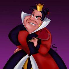 *QUEEN of HEARTS ~ Alice in Wonderland, Disney Films, Disney Villains, Disney Art, Queen Of Hearts Disney, Alice In Wonderland Characters, Little Dogs, Decorating Blogs, Cartoon Drawings, Character Concept