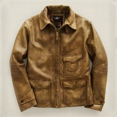 RRL Elkhorn Leather Jacket - Polyvore