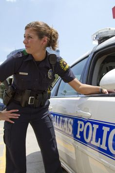 Picture: Beth Burnside in 'Police Women of Dallas.' Pic is in a photo gallery for 'Police Women of Dallas' featuring 33 pictures. Police Test, Police Cars, Military Women, Women Police, Female Police Officers, Female Supremacy, Alpha Female, Girls Uniforms, Thin Blue Lines