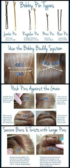 SECRET STYLIST TIPS: THE BOBBY PIN. Good to know!: