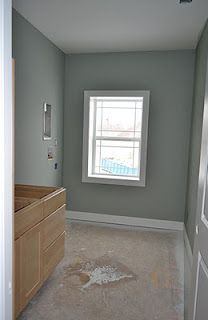 Love this color for a bathroom! Sherwin Williams Oyster Bay
