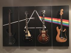 Dark Side of the moon. Guitars hanger. Icon-concept