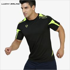 LUCKY SAILING men Tennis t-shirt sports series wicking breathable clothing badminton men's t-shirt table tennis clothes tees #men, #hats, #watches, #belts, #fashion