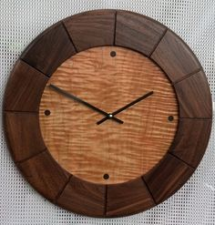 maple clock | clock walnut with curly maple dial clock mahogany with curly