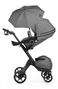 This lightweight, easy-fold stoller from Stokke is designed for easy adjustments for both you and baby.