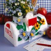 Download Plastic Canvas Patterns | Sunflower Card Box Plastic Canvas Pattern ePattern - Leisure Arts