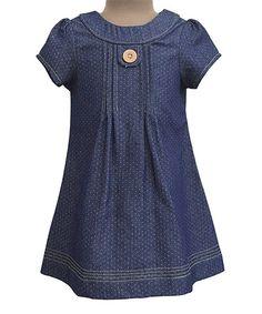 Look at this #zulilyfind! Denim Polka Dot Melaine Dress - Infant, Toddler & Girls #zulilyfinds