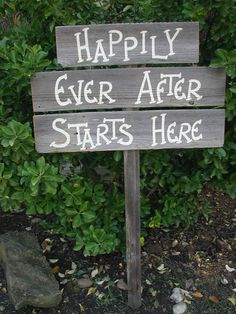 Triple Wood Board Wedding Sign Bridal Happily by craftmarttexas