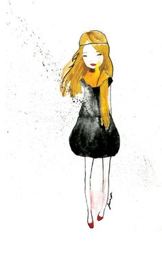 fashion illustration: watercolor