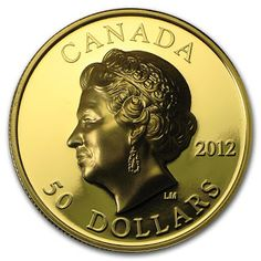 Canada 50 Dollars Gold Coin 2012 Diamond Jubilee of Queen Elizabeth II Gold Bullion Bars, Canadian Coins, Gold And Silver Coins, Gold Stock, World Coins, Rare Coins, Canada, Queen Elizabeth Ii