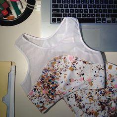 Cynthia Rowley confetti swimsuit