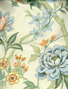 Beautiful Vintage Crowson English Floral Roses Fabric