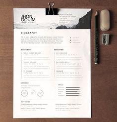 clean realistic resume cv template psd - Mac Resume Templates