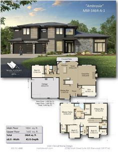 Nw Contemporary House Plans - 16 Nw Contemporary House Plans, with An Elegant northwest Modern Exterior and A Deluxe House Plans Mansion, Sims House Plans, Craftsman House Plans, Best House Plans, Dream House Plans, Modern House Floor Plans, Contemporary House Plans, Dream House Interior, Luxury Homes Dream Houses
