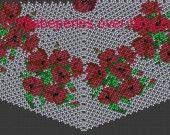 Patron en tissage danois d'un bouquet de coquelicot : Tutoriels de fabrication par babezaza