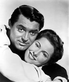 Joan Fontaine and Cary Grant