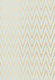 Kasari Ikat Wallpaper, Aquamarine - contemporary - wallpaper - F. Schumacher & Co.