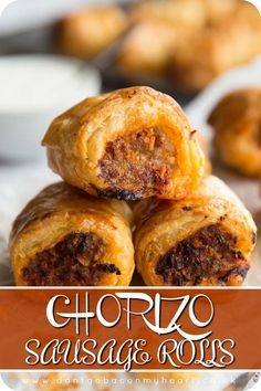 To the Sausage Roll lovers among us – gather and listen closely. These Chorizo… To the Sausage Roll lovers among us – gather and listen closely. These Chorizo Sausage Rolls are about to change your life for the better. Chorizo Recipes, Mexican Food Recipes, Thermomix Sausage Rolls, Best Sausage Roll Recipe, Healthy Sausage Rolls, Sausage Rolls Puff Pastry, Latin Food, Pastry Recipes, Cooking Recipes