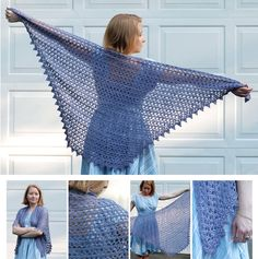 Crocheted Diaphanous Shawl