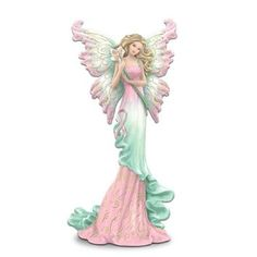 Breast Cancer Support Fairy Figurine With Butterfly Pin: Wishes For Hope by The Hamilton Collection